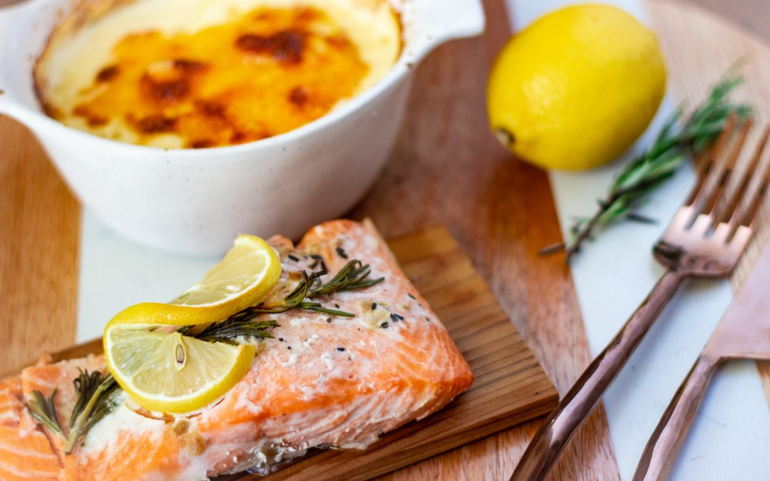 Keto Salmon and Turnip Au Gratin