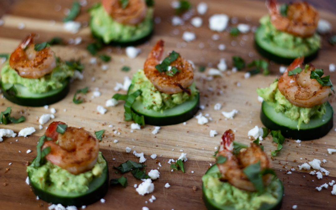 keto shrimp avocado bites, shrimp avocado bites, avocado bites